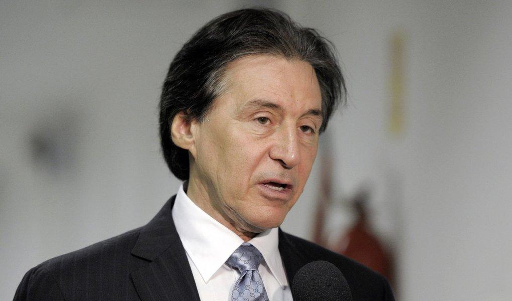 senador Eunício Oliveira (PMDB-CE) concede entrevista.