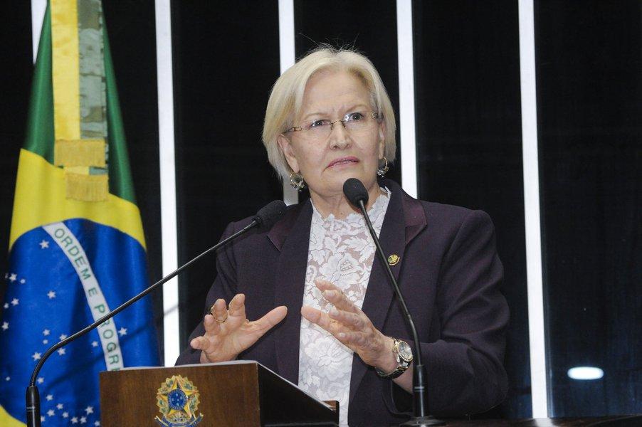"""Senadora Ana Amélia: """"Plebiscito é um atraso"""""""