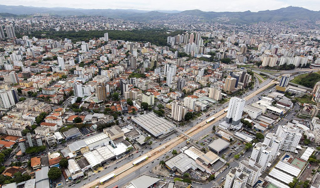 Belo Horizonte_MG, 06 de Dezembro de 2013  Faquini  Imagens aéreas das obras da Copa 2014  Foto: LEO DRUMOND / NITRO
