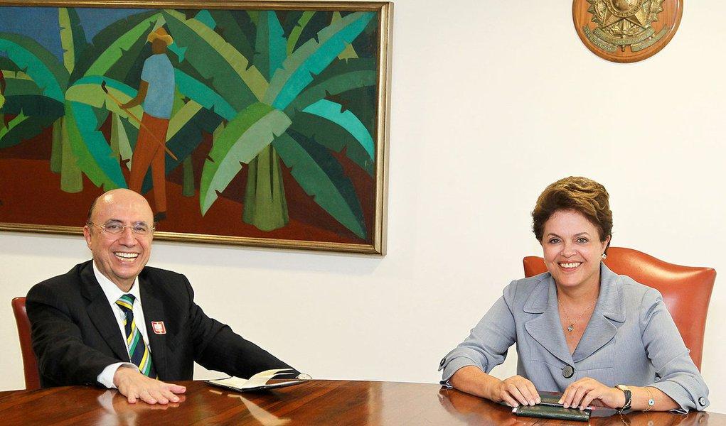 Brasília - DF, 14/03/2011. Presidenta Dilma Rousseff com Henrique Meirelles. Foto: Roberto Stuckert Filho/PR.