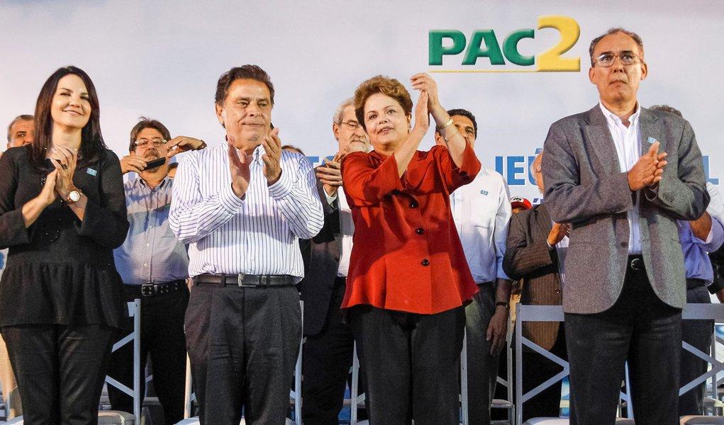 Serra Talhada - PE, 14/04/2014. Presidenta Dilma Rousseff durante cerimônia de inauguração da 1ª etapa e ordem de serviço da 2ª etapa da Adutora Pajeú e lançamento do edital do Ramal do Agreste. Foto: Roberto Stuckert Filho/PR