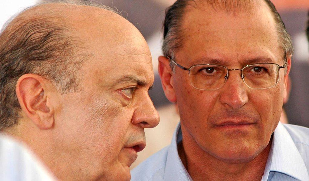 José Serra e Geraldo Alckmin em Piracicaba inauguração FATEC - 11.2009