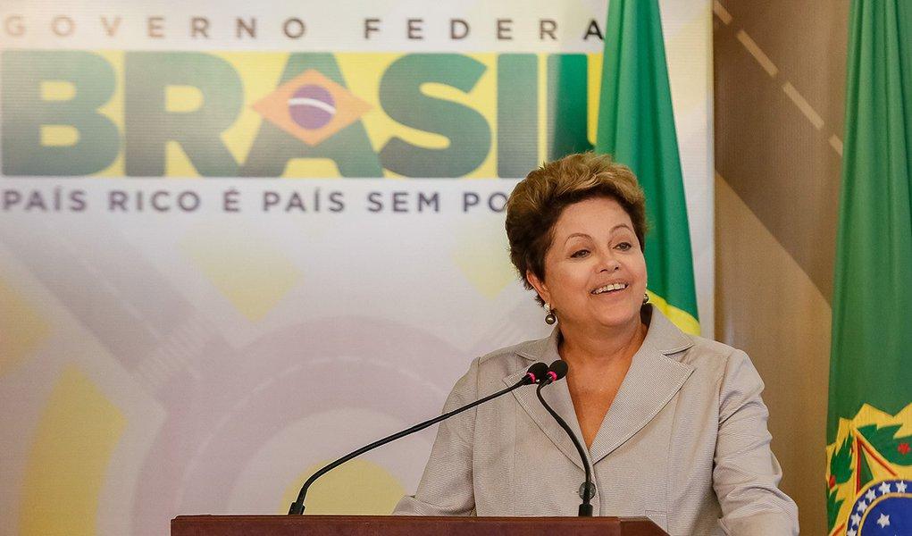 Brasília - DF, 13/03/2014. Presidenta Dilma Rousseff durante anúncio de investimentos do PAC2 Mobilidade Urbana no Palácio do Planalto. Foto: Roberto Stuckert Filho/PR