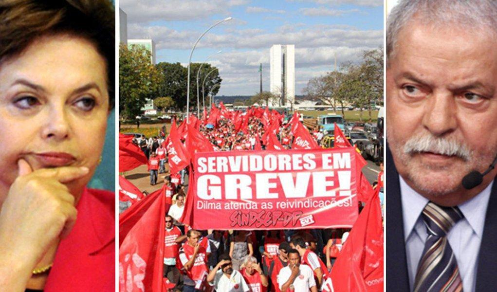 Tensão grevista opõe estilos de Dilma e Lula