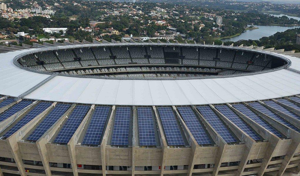 Usina Solar do Mineirao - Parceria entre Secopa e Cemig.  Credito: Renato Cobucci/Imprensa MG Data: 16-05-2013 Local: Estadio Mineirao