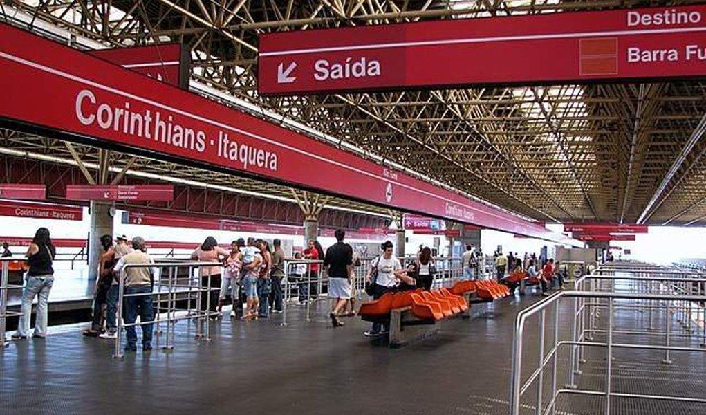 Estação Corinthians-Itaquera deve fechar em jogos da Copa