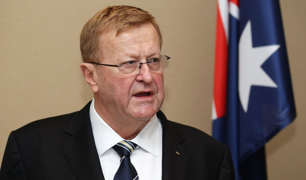 SYDNEY, AUSTRALIA - SEPTEMBER 07:  Australian Olympic Committee John Coates speaks during a press conference to announce the signing of a cooperation agreement between the Australian Olympic Committee (AOC) and the Russian Olympic Committee (ROC) at the S