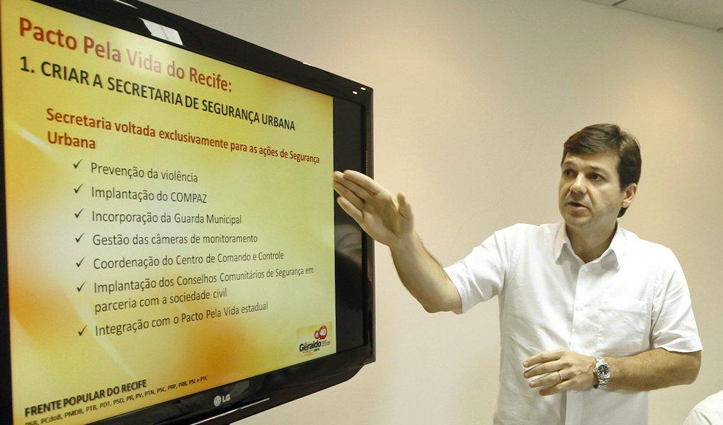 """Geraldo promete """"Pacto Pela Vida do Recife"""""""