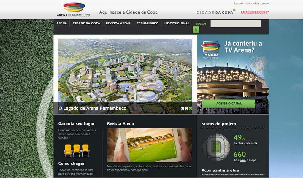 Arena Pernambuco ganha portal