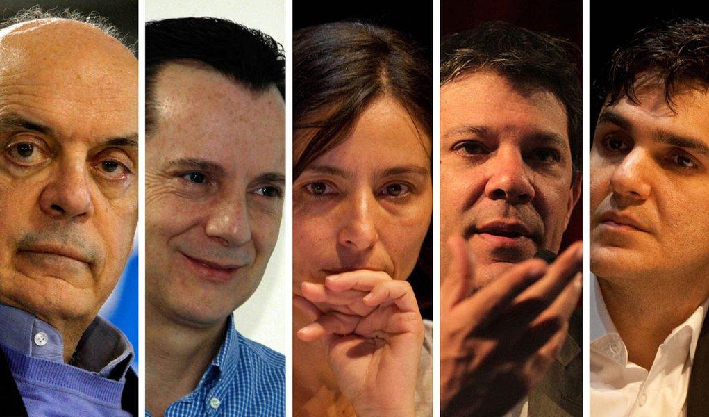Morno, 1º debate em SP apresenta candidatos