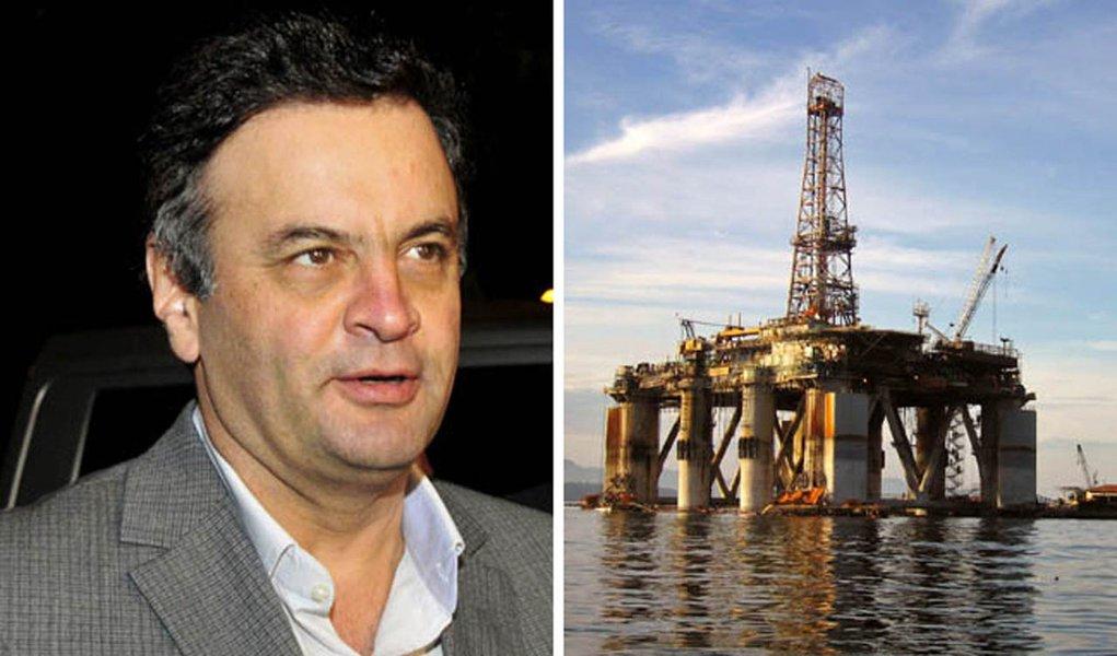 Aécio foca na Petrobras e bate duro no PT