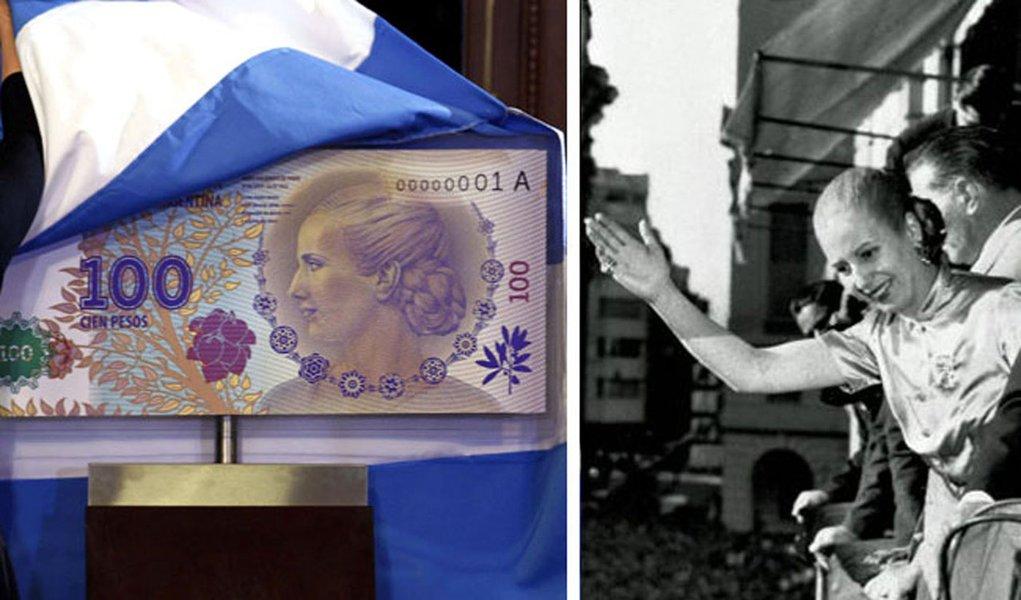Sessenta anos depois da morte, Evita vira nota de 100 pesos