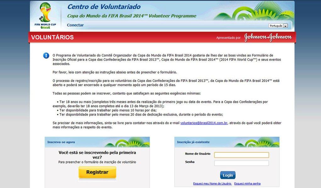 Voluntários podem se inscrever para a Copa
