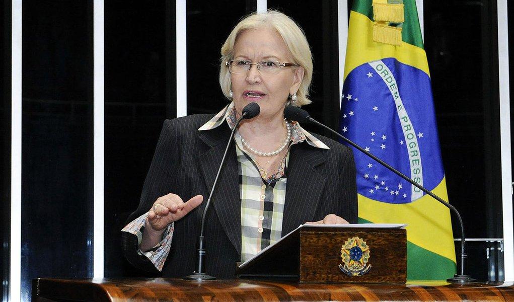 Senadora Ana Amélia (PP-RS) durante discussão do Projeto de Lei de Conversão 2/2014, que fixa nova norma de tributação de lucros de empresas controladas no exterior por matriz brasileira. O texto do projeto é proveniente da Medida Provisória (MP) 627/2013