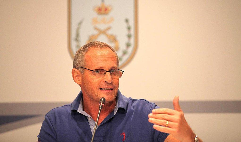 Apresentação dos resultados da operação de pacificação da Vila Kennedy. Secretário de Segurança, José Mariano Beltrame.