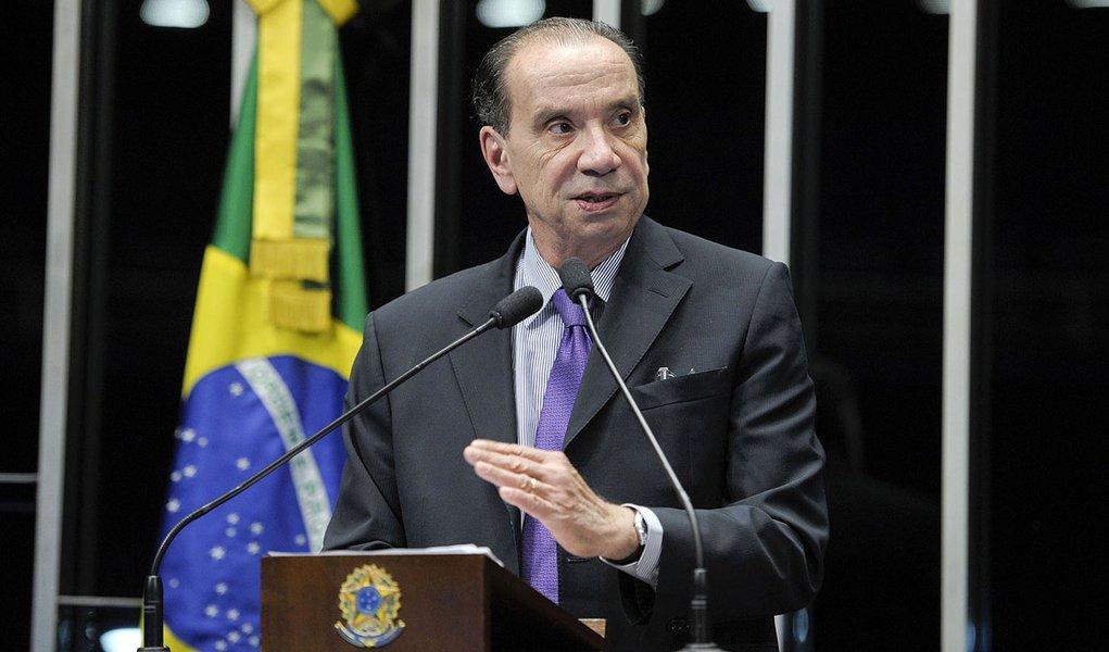 Em discurso na tribuna do Senado, senador Aloysio Nunes Ferreira (PSDB-SP)