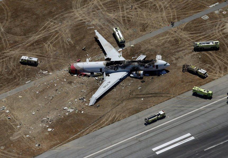 Boeing 777 sofre acidente em São Francisco