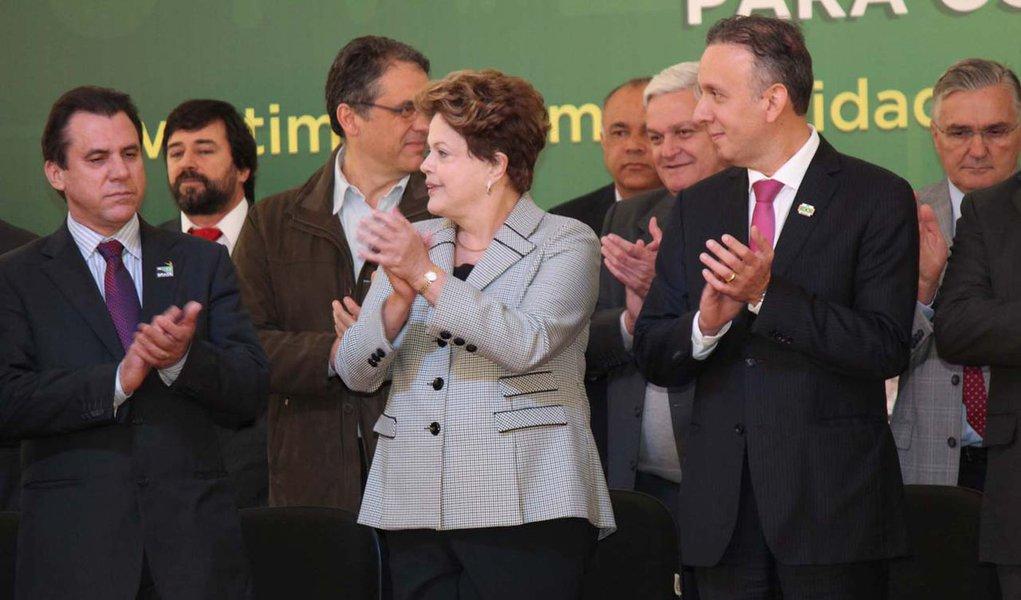 SÃO BERNARDO DO CAMPO,SP,19.08.2013:DILMA/PAC/SÃO BERNARDO DO CAMPO - A presidente da República, Dilma Rousseff, anuncia investimentos do Programa de Aceleração do Crescimento (PAC) para cidades da região do Grande ABC, em evento realizado no Paço Municip