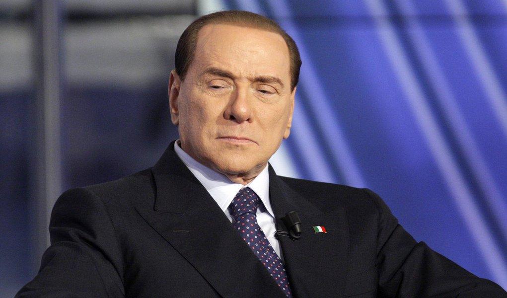 Berlusconi discute com apresentador de TV