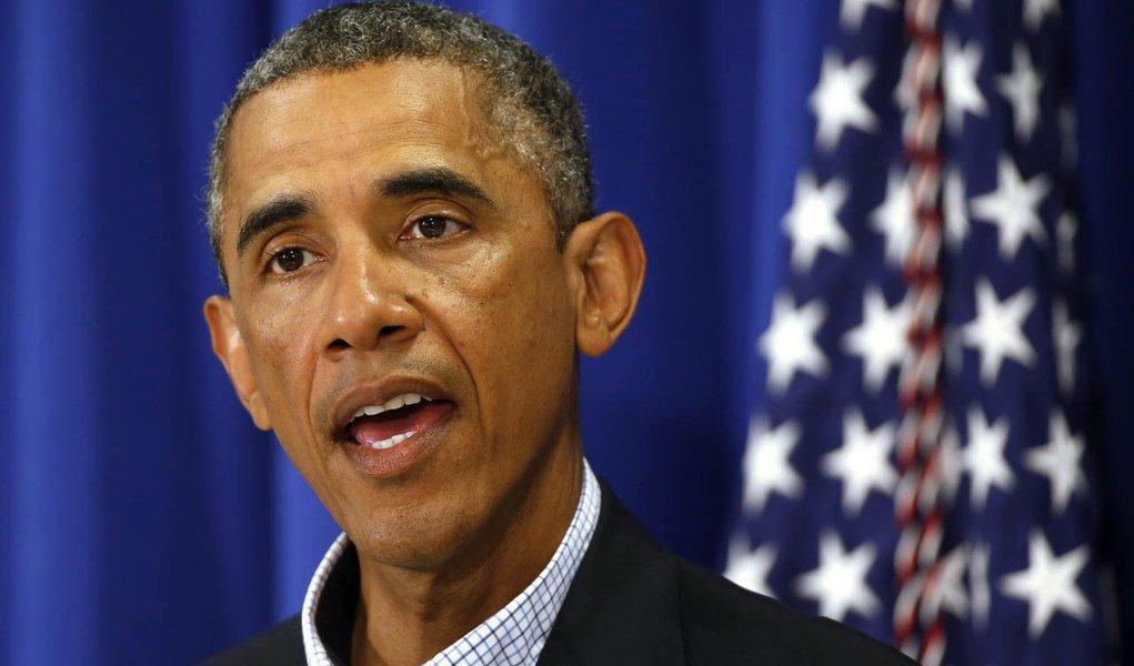 Obama faz declaração sobre situação no Iraque nesta quinta-feira.  REUTERS/Kevin Lamarque
