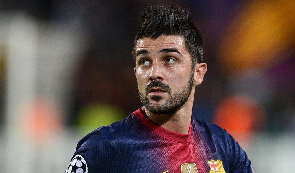 Barcelona negocia Villa com Atlético de Madri