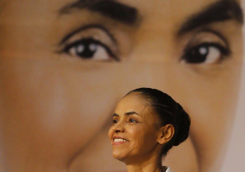 Marina Silva, candidata do PSB à Presidência, durante lançamento de seu programa de governo, em São Paulo 29/08/2014 REUTERS/Paulo Whitaker