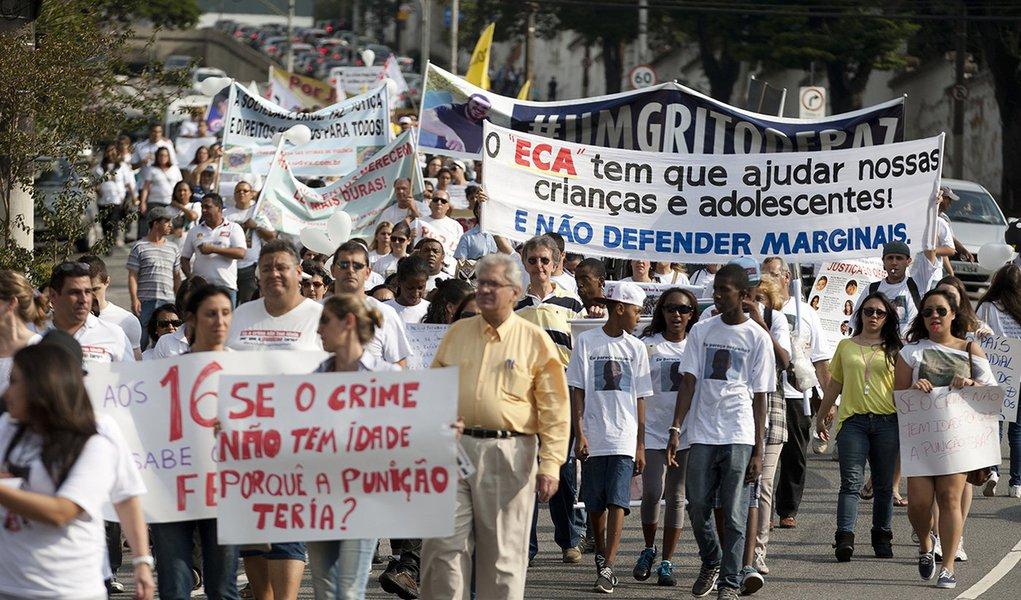 Paulistas pedem redução da maioridade penal