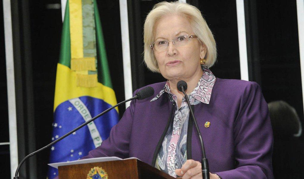 Em discurso na tribuna do Senado, senadora Ana Amélia (PP-RS)