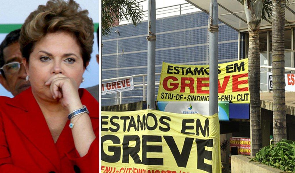 Dilma comanda um país à beira da greve geral