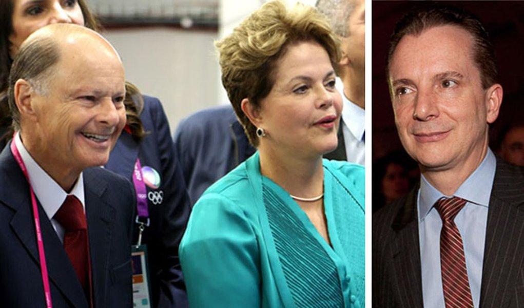 Ao lado do bispo Macedo, Dilma ajuda Russomano