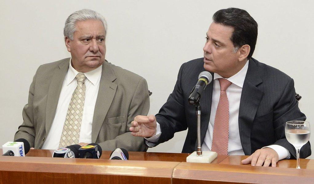Governador / Vilmar novo secretario. Na fotos governador Marconi Perillo, Vilmar Rocha secretario. Fotos Rodrigo Cabral