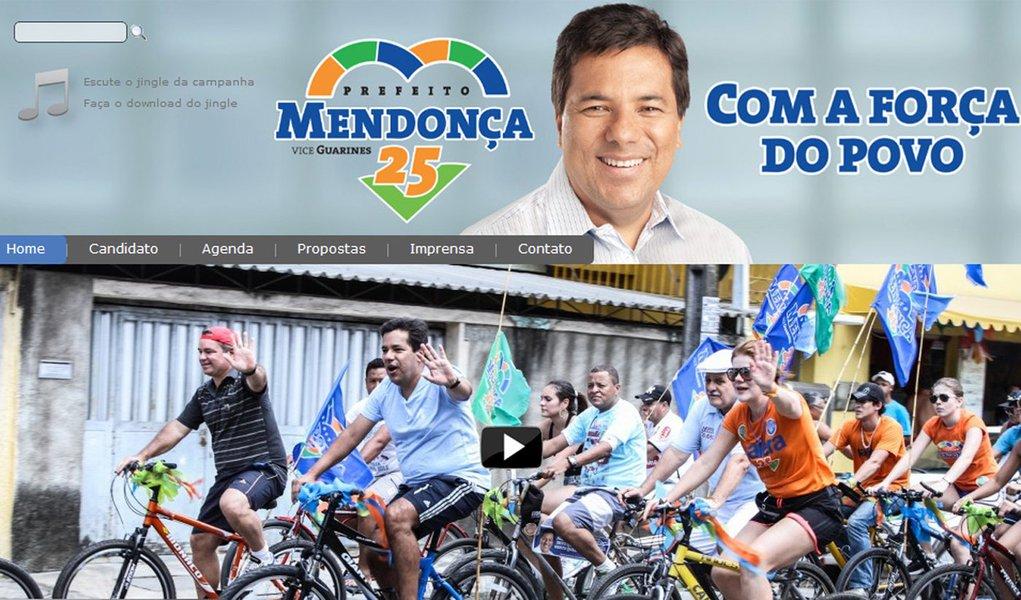 Mendonça lança site para campanha