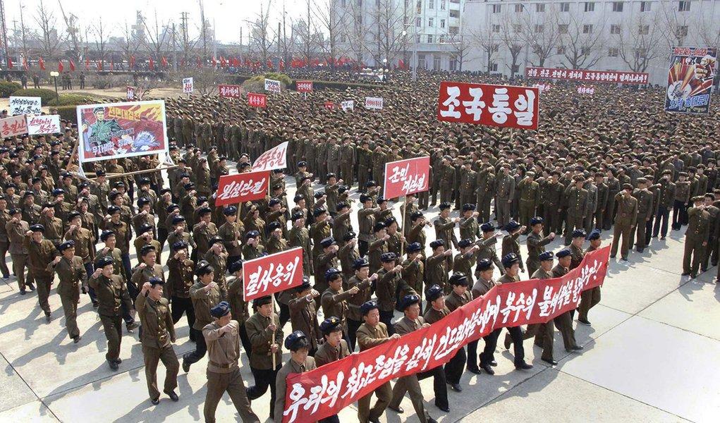 """Exército norte-coreano """"ratificou"""" ataque aos EUA"""