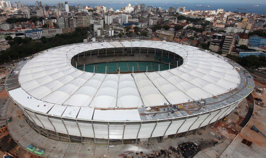 Cobertura da Arena Fonte Nova está pronta