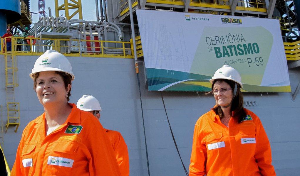 Dilma Rousseff e Graça Foster, que presidiu a Petrobrás