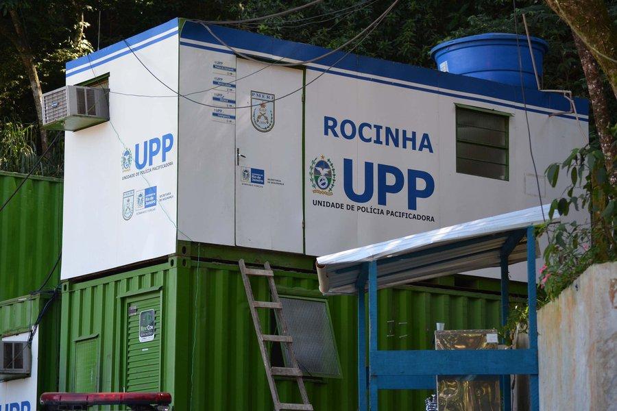 RIO DE JANEIRO,RJ,02.08.2013:FACHADA E C�MERAS/UPP DA ROCINHA/INVESTIGA��O CASO AMARILDO - Fachada e c�meras da Unidade de Pol�cia Pacificadora (UPP), no Bairro da Rocinha no Rio de Janeiro (RJ), nesta sexta-feira (02). Um pedreiro identificado como Amari