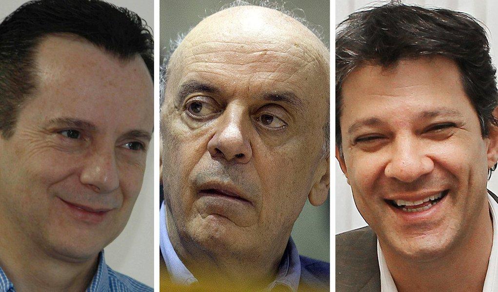 Datafolha: Russomanno lidera, Serra cai feio e Haddad cresce