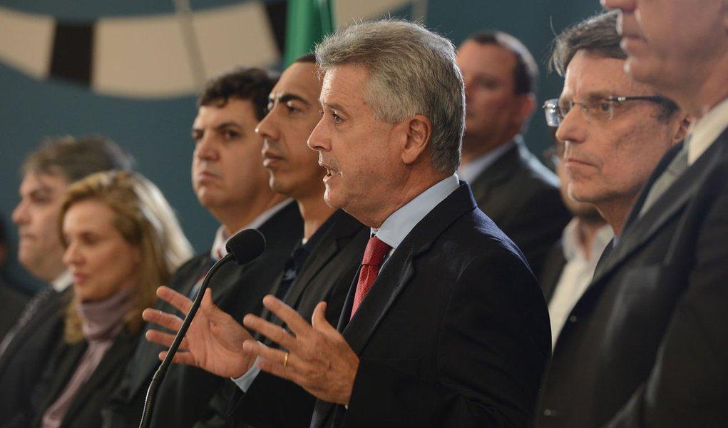 Rodrigo Rollemberg, governador eleito do DF, anuncia os nomes dos futuros secretários de seu governo (Elza Fiúza/Agência Brasil)