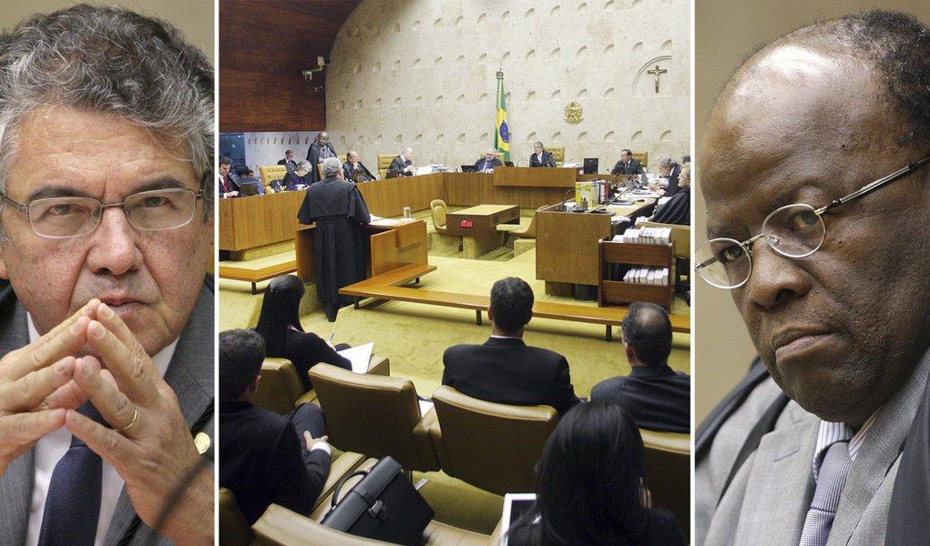 Polêmica entre Mello e Barbosa agita julgamento