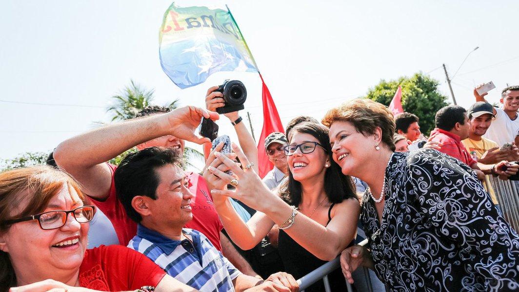 Jales - SP, 30/08/2014. Dilma Rousseff chega em Jales. Foto: Ichiro Guerra