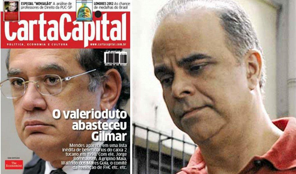Carta acusa Gilmar de receber do valerioduto