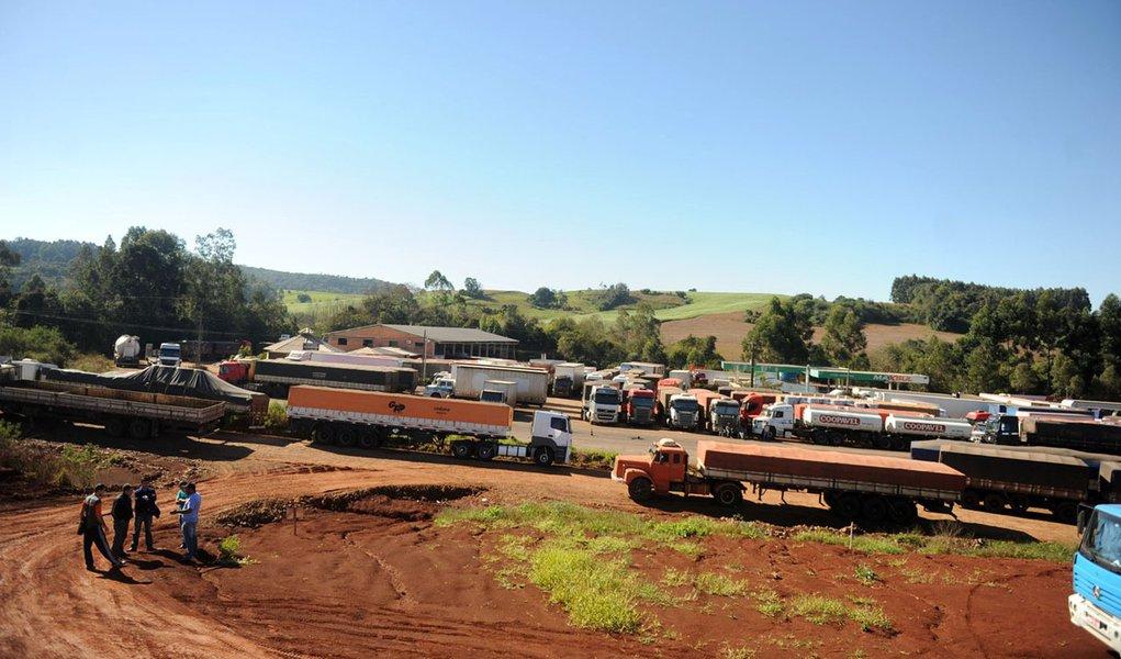 Rio Grande do Sul teve 35 bloqueios em 7 rodovias