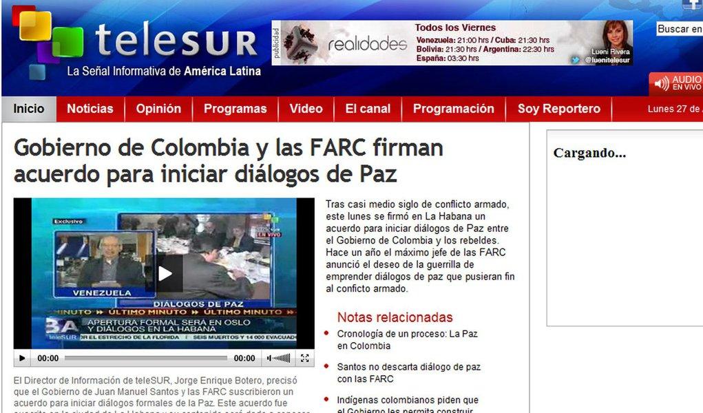 Colômbia não confirma negociações de paz com as FARC
