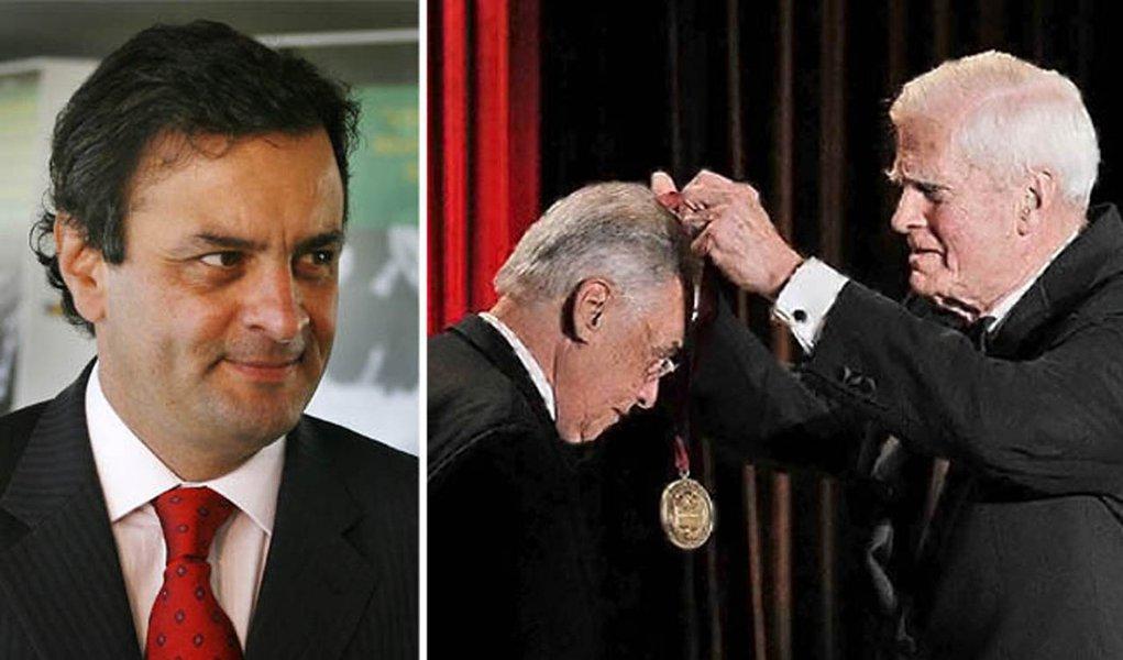 Aécio Neves usa prêmio de FHC para criticar governo