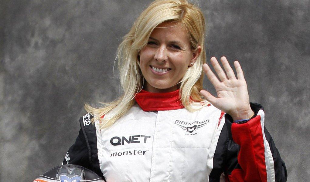 Espanhola reserva na Fórmula-1 perde olho durante teste