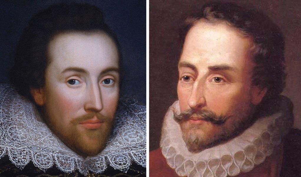 No mesmo dia, morreram William Shakespeare e Miguel de Cervantes