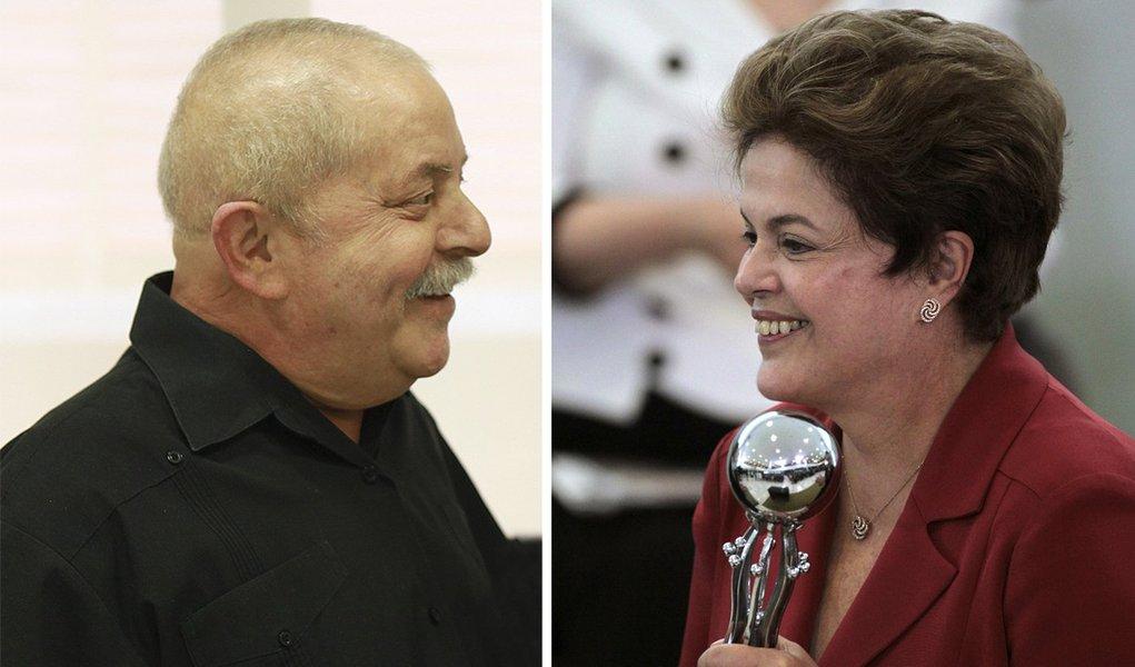 Lula ganha aplauso de Dilma e 'olê' no Planalto