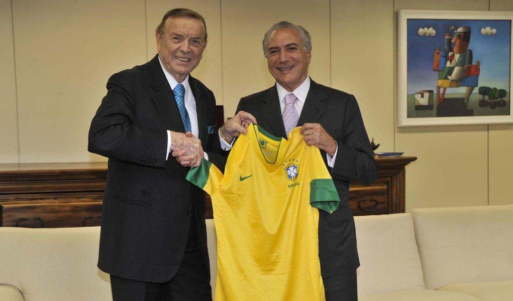 Presidente da CBF é recebido por Temer no Palácio do Planalto