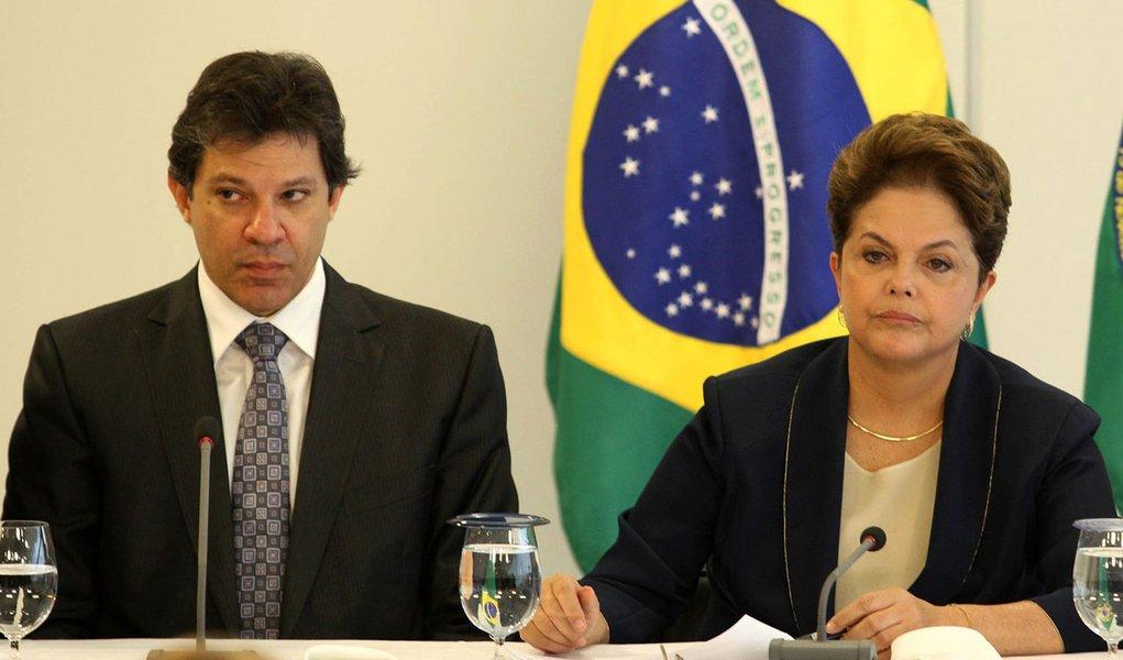 Por Haddad, Dilma teme virar refém de aliados