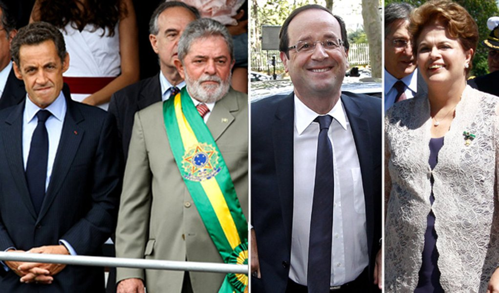 Lula-Sarkô era interesse. Dilma-Hollande é amor